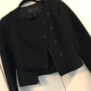 BCBGMAXAZRIA black peplum jacket